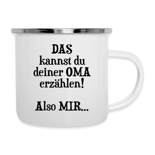 Oma Geburtstag Weihnachten Geschenk Enkel Spruch - Emaille-Tasse