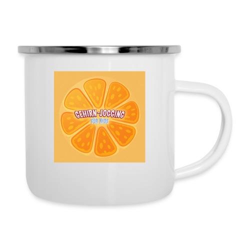 orangetextur - Emaille-Tasse