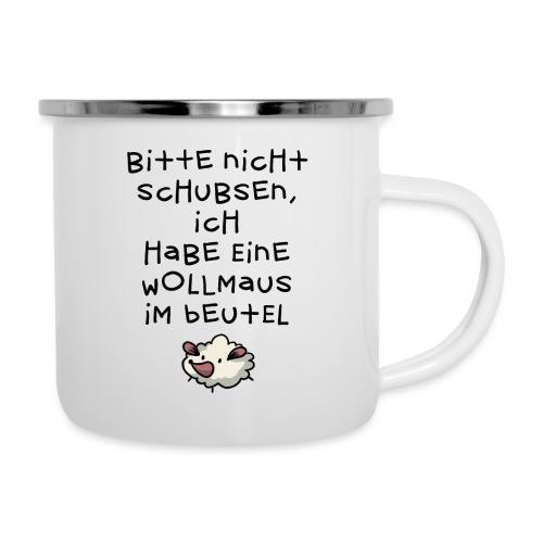 Wollmaus // Beutel - Emaille-Tasse