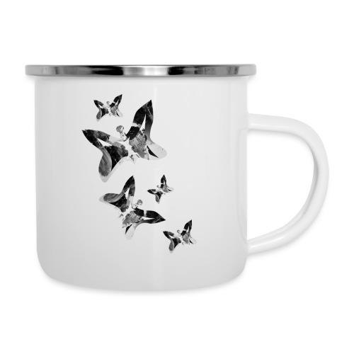 Schmetterlinge - Emaille-Tasse