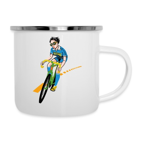 The Bicycle Girl - Emaille-Tasse
