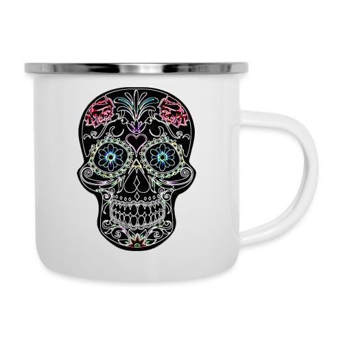 Floral Skull - Camper Mug