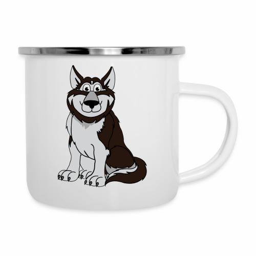 Husky - Emaille-Tasse