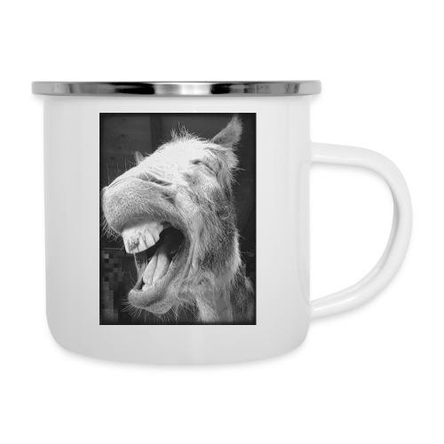 lachender Esel - Emaille-Tasse