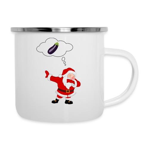 Père Noël aubergine - Tasse émaillée