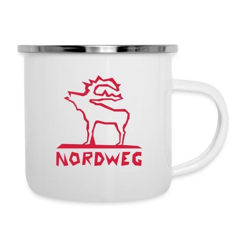Elch-Nordweg - Emaille-Tasse