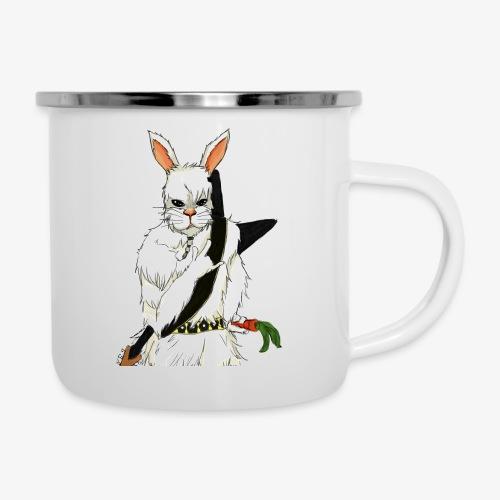 The white Rabbit - Emaljekopp