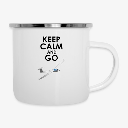 Keep Calm and Go Gliding - Tasse émaillée