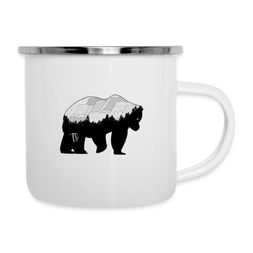 Geometric Mountain Bear - Tazza smaltata