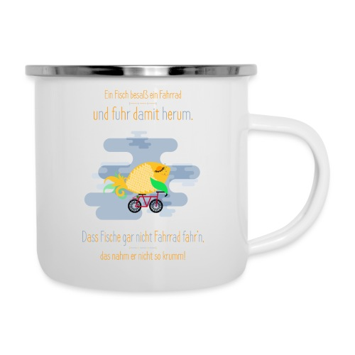 Der Fahrrad-Fisch - Emaille-Tasse