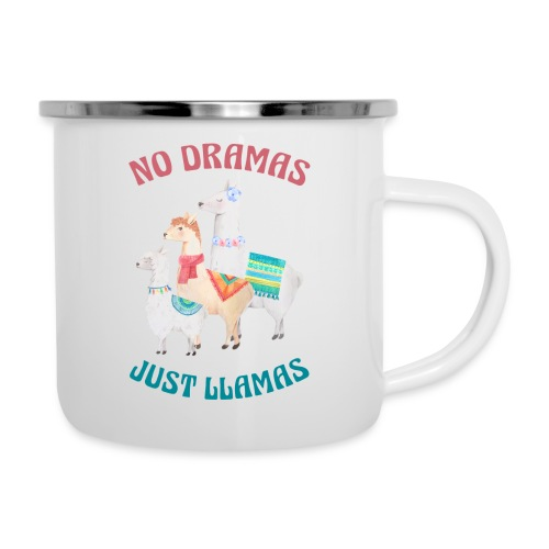 No Dramas Just Llamas - Camper Mug
