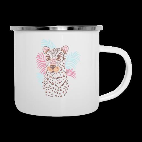 80s Pastel Color Cat - Camper Mug
