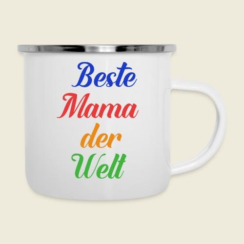 Beste Mama der Welt schön bunt - Emaille-Tasse