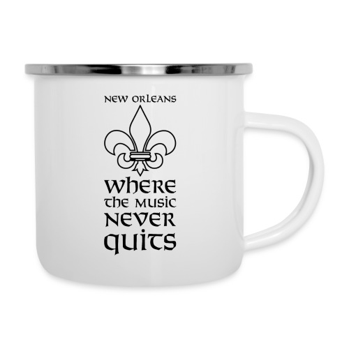 New Orleans - Where the Music never Quits - Emaille-Tasse