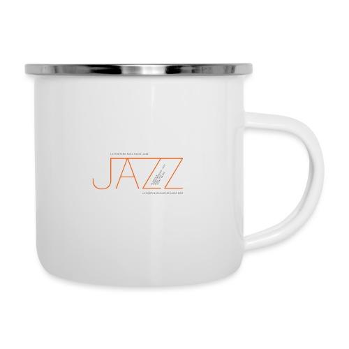 La Montaña Rusa Radio Jazz Modelo, blanco backgr - Taza esmaltada