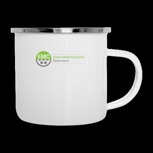 ElektroMobilitätsClub Logo - Emaille-Tasse