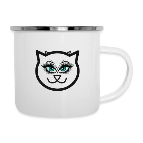 Hipster Cat Girl by T-shirt chic et choc - Tasse émaillée
