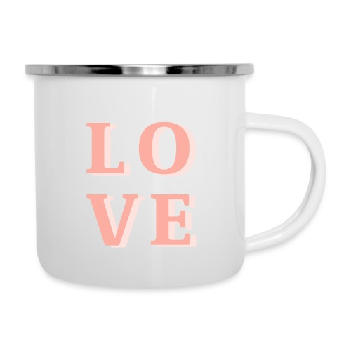 LOVE - Emaille-Tasse