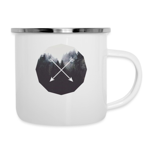 Misty Forest Blended With Crossed Arrows - Tazza smaltata
