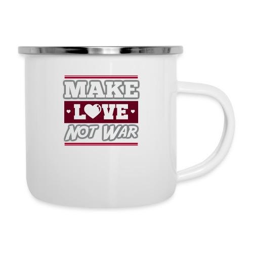 Make_love_not_war by Lattapon - Emaljekrus