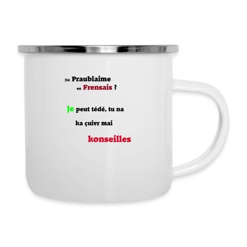 Probleme en français - Tasse émaillée