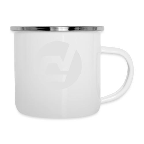 logo blanc - Tasse émaillée