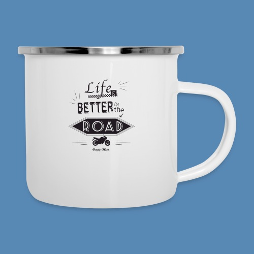 Moto - Life is better on the road - Tasse émaillée
