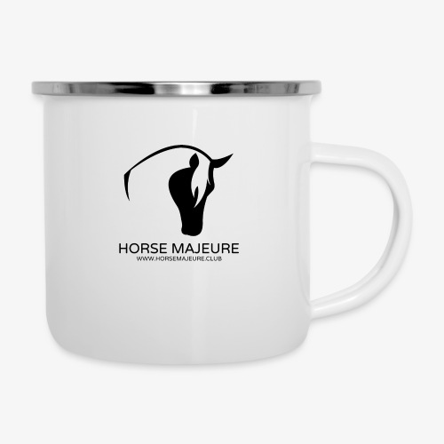 Horse Majeure Logo / Musta - Emalimuki