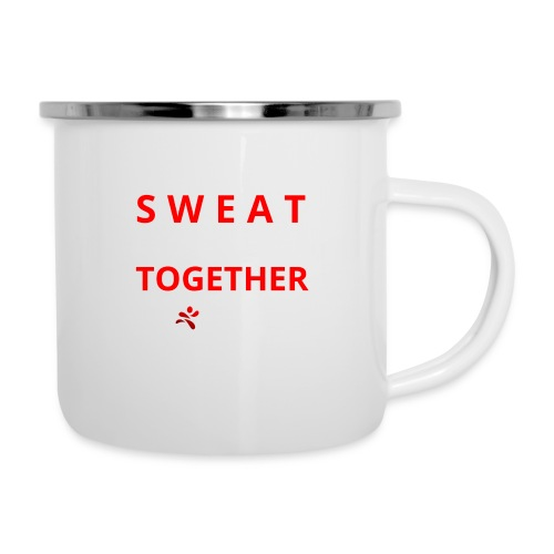 Friends that SWEAT together stay TOGETHER - Emaille-Tasse