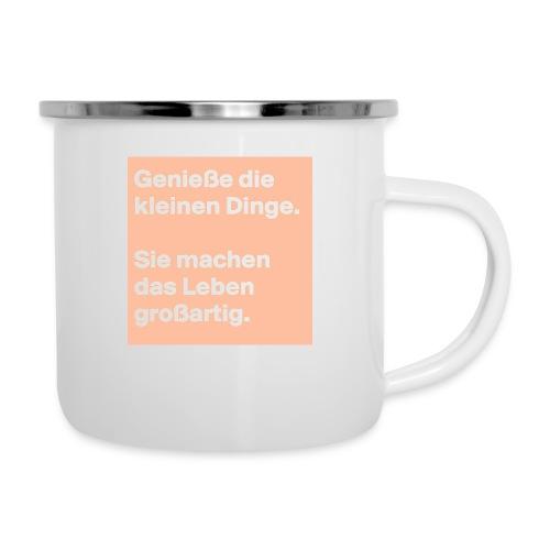 Sprüchekleidung - Emaille-Tasse