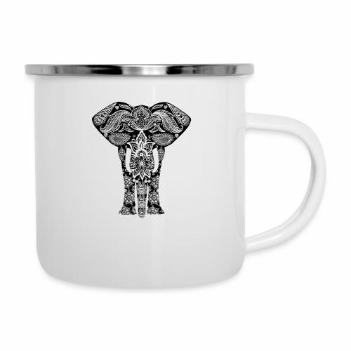Ażurowy słoń - Kubek emaliowany