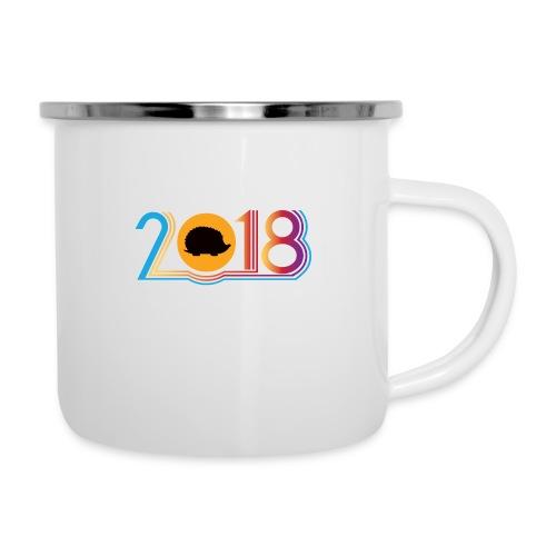 Frohes neues Jahr 2018 Igeldesign - Emaille-Tasse