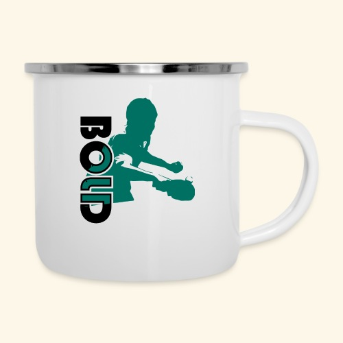 BOLD, table tennis championship ideal gift - Emaille-Tasse