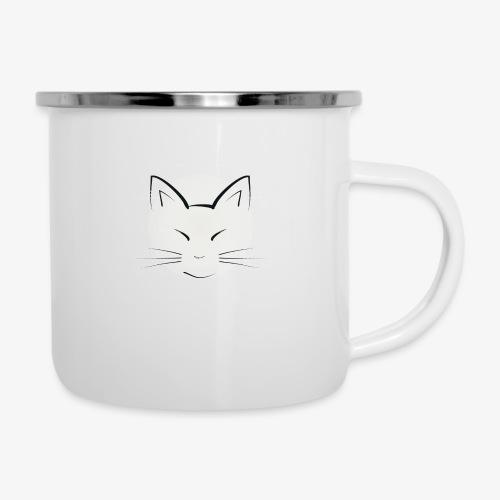 Katze - Emaille-Tasse