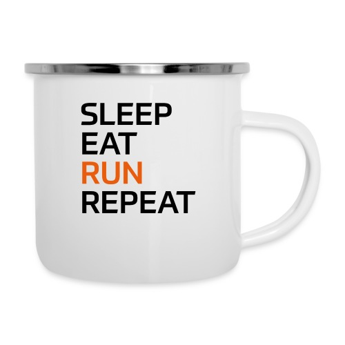 Eat Sleep Run Repeat - Emaille-Tasse
