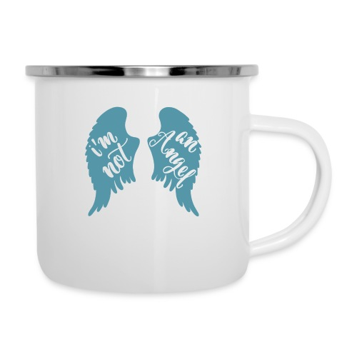I'm not an angel - Emaille-Tasse