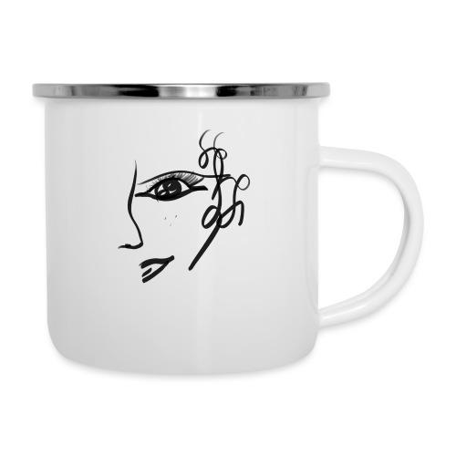 Gesicht - Emaille-Tasse
