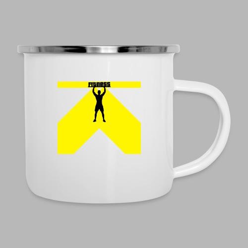 Fitness Lift - Emaille-Tasse