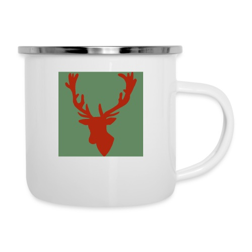Hirch B RED - Emaille-Tasse