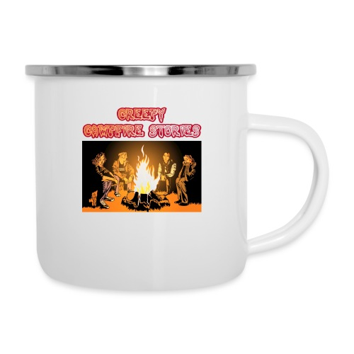 Campfire Shirt Front png - Emaille-Tasse