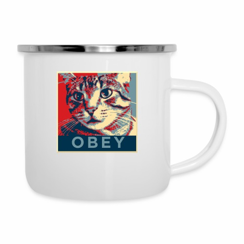 Obey the Cat! - Emaille-Tasse
