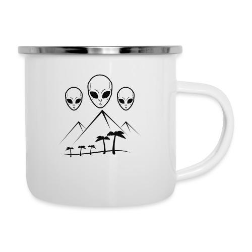 Pyramides & Extraterrestres - Tasse émaillée