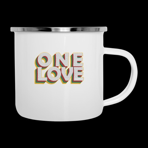 ONE LOVE - Emaille-Tasse