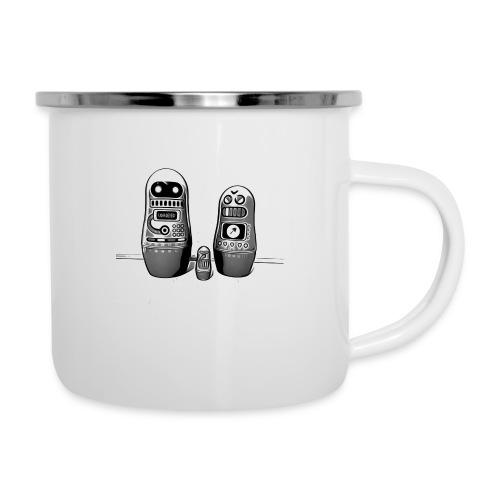 0342 Shirt ROBOT Bot IIII - Emaille-Tasse