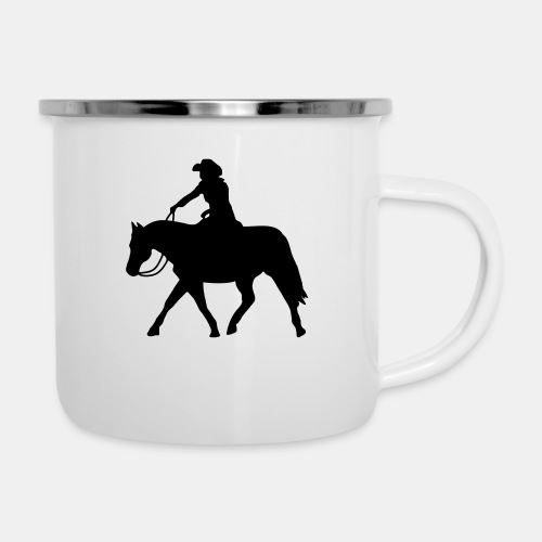 Ranch Riding extendet Trot - Emaille-Tasse