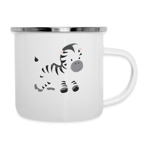Zebra - Emaille-Tasse