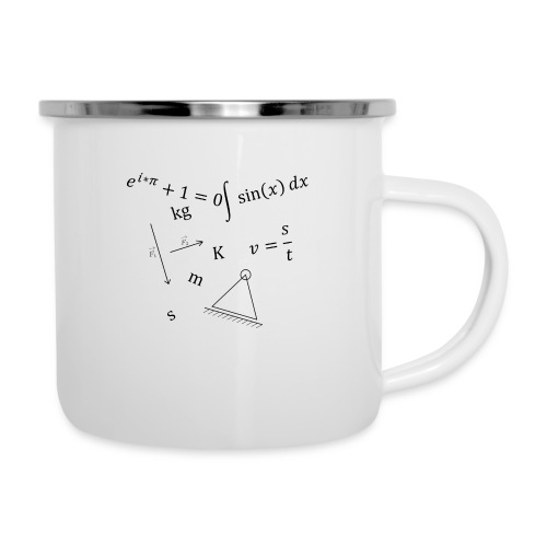 Mathlove - Emaille-Tasse