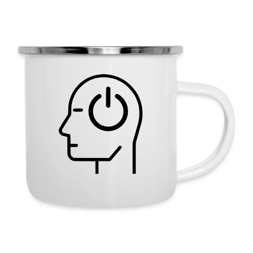 Kopf einschalten - Emaille-Tasse