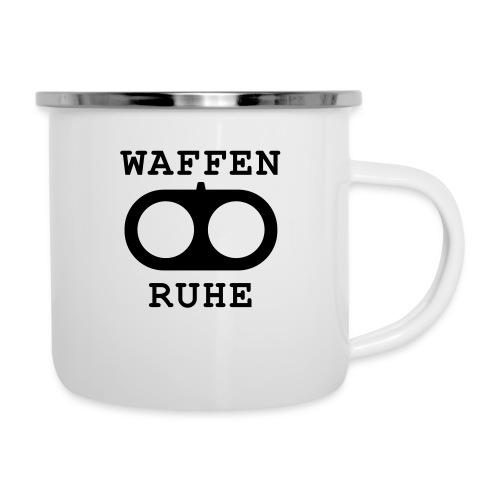 Waffenruhe - Emaille-Tasse