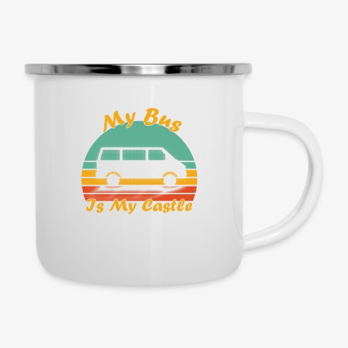 My Bus Is My Castle - Emaille-Tasse